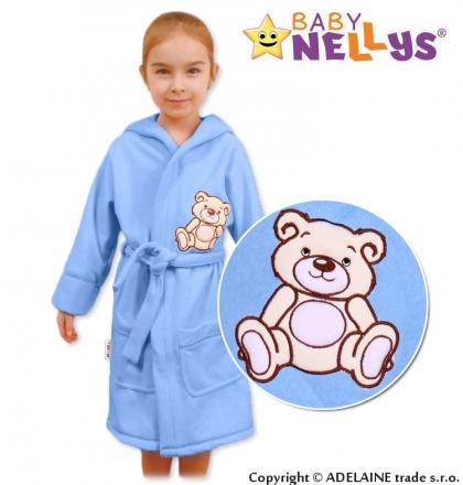Baby Nellys Dětský župan - Medvídek Teddy Bear, 98/104 - sv. modrý Baby Nellys