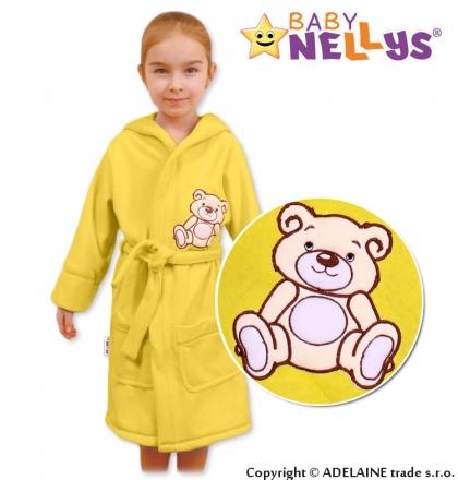 Baby Nellys Dětský župan - Medvídek Teddy Bear - krémový Baby Nellys