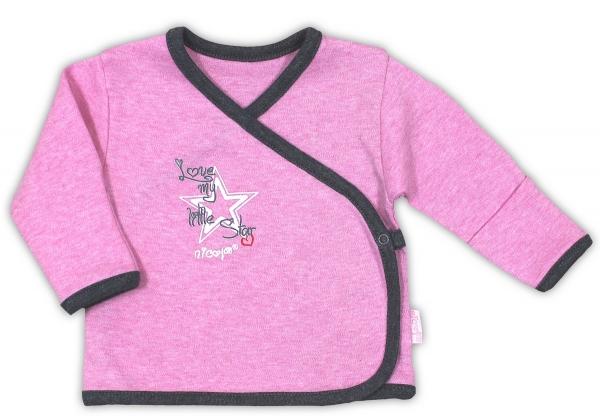 Košilka NICOL SUPERSTAR - zapínání bokem - melír růžová
