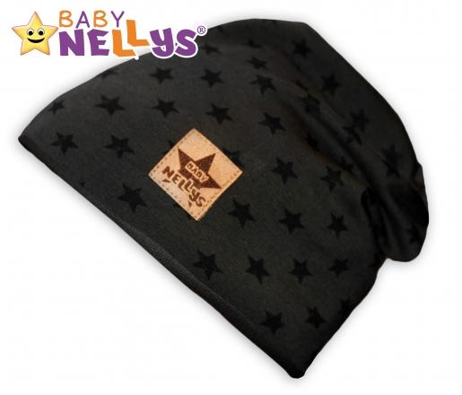 Bavlněná čepička s hvězdičkami Baby Nellys ® - zelená, 48-52
