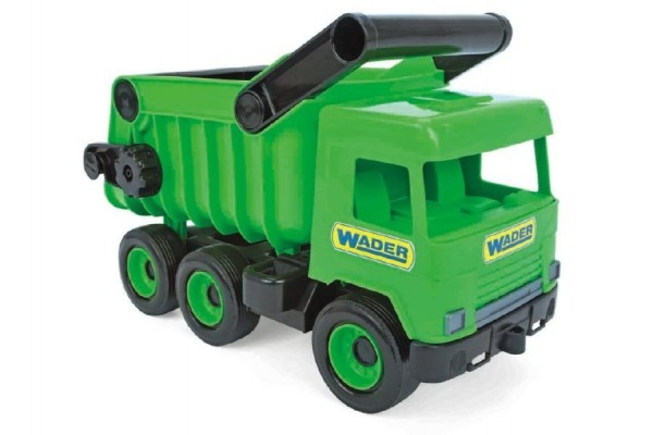 Auto middle Truck sklápěč plast 36cm zelený v krabici Wader