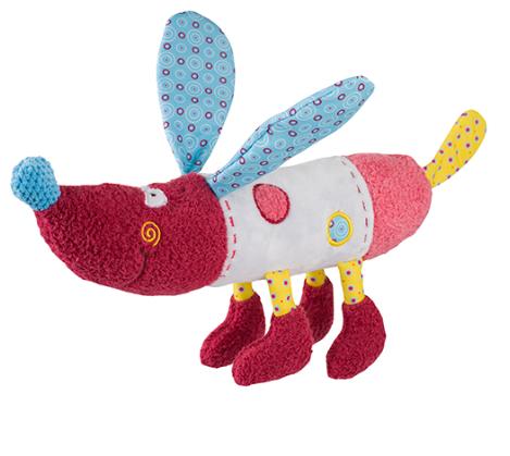 BabyOno Edukační hračka - chrastítko - Pejsek Rob BABYONO