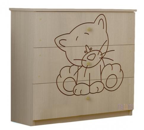 BabyBoo Dětská komoda - Kočička