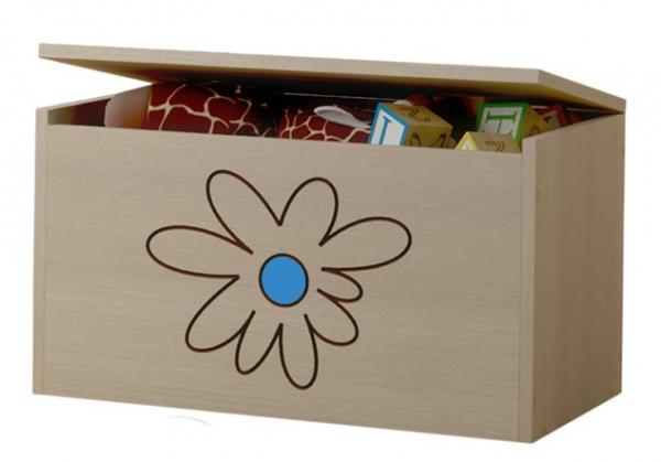 BabyBoo Box na hračky, truhla Květinka modrá