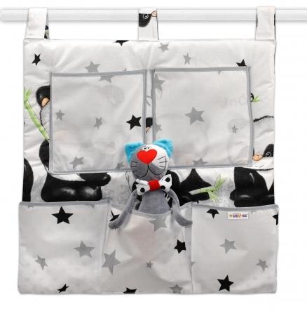 Baby Nellys Kapsář na postýlku Panda - bílý, D19 Baby Nellys