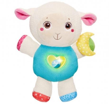 Ovečka s noční lampičkou a chrastítkem Chicco - First Love Chicco