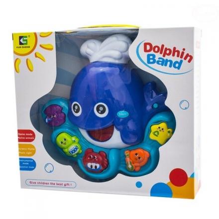 Euro Baby Interaktivní hračka s melodií - Velryba - modrá
