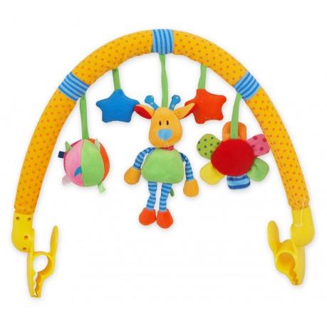 BABY MIX Oblouk s hračkami ke kočárku - Žirafka