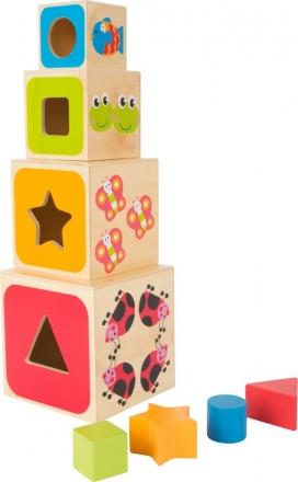 LEGLER Dřevěná věž z kostek - ABC