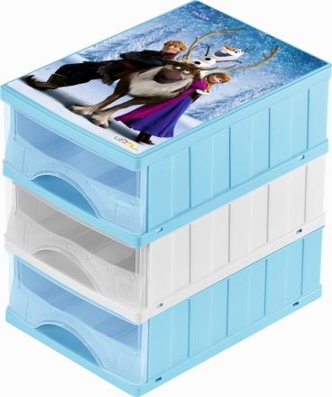 Keeeper Boxy na hračky - sada 3 šuplíků FROZEN
