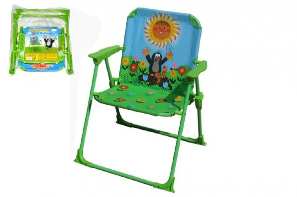 Židlička/Židle Krtek polyester/kov 50cm v sáčku