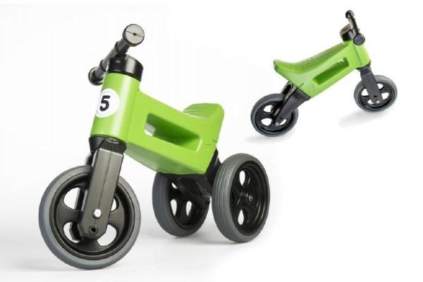 Odrážedlo FUNNY WHEELS Rider Sport zelené 2v1, výška sedla 28/30cm nosnost 25kg 18m+