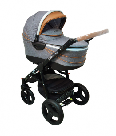 Kočárek APRILIA Coto Baby 3v1 + dárkový poukaz na 500kč - Len grey Brown Coto baby 8596309084657