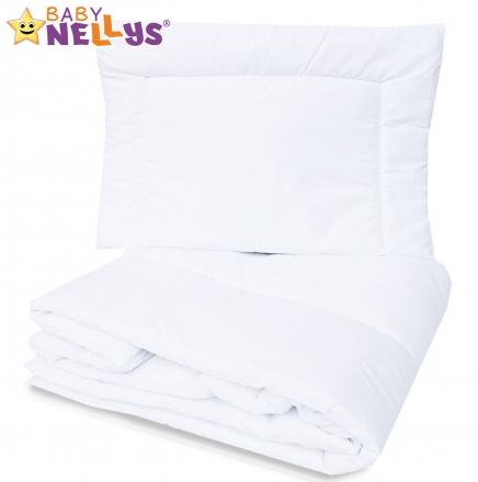 Peřinka a polštář do postýlky 120x90+40x60 Baby Nellys - bílé Baby Nellys