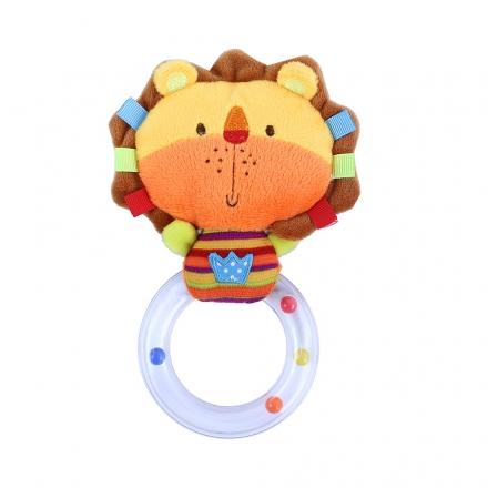 Chrastítko plyšové lev s kruhem BABY lev