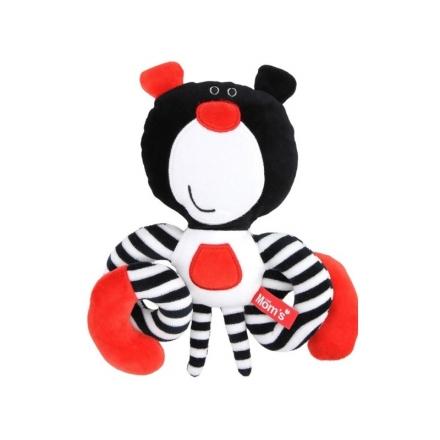 Hencz Toys Roztomilá edukační hračka Méďa spirálka - černá