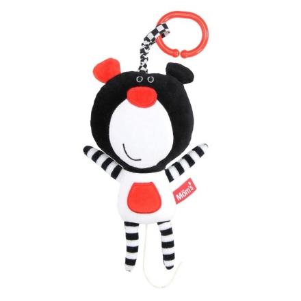 Hencz Toys Závěsná edukační /plyšová hračka Méďa s melodií - černá