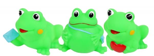 Hencz Toys Gumové zvířátka do vody - veselé žabičky, 3ks v balení