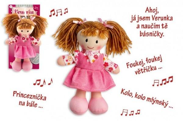 Panenka Verunka hadrová plyš 20cm česky mluvící na kartě