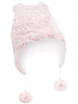 Zimní čepička YO ! na zavazování Ombre - meruňková