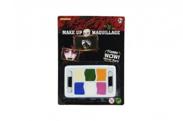 Barvy obličejové na kartě 14x18cm karneval TEDDIES