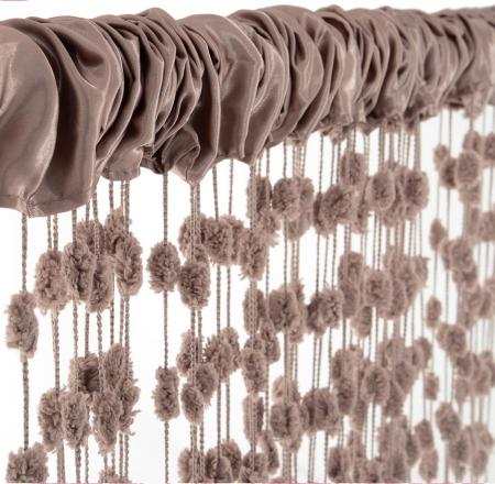 Dětská záclona nejen do pokojíčku Baby Ball, 150x240 cm, mocca - 1ks
