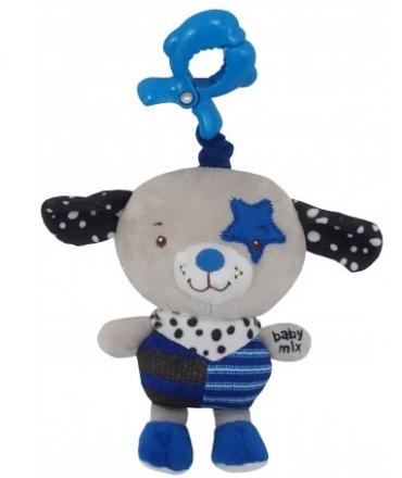 Baby Mix Závěsná hračka Pejsek - modrý