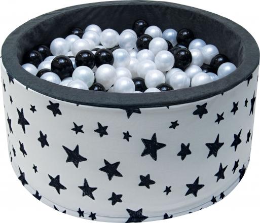 NELLYS Bazén pro děti 90x40cm - tmavé hvězdy s balónky, Ce19