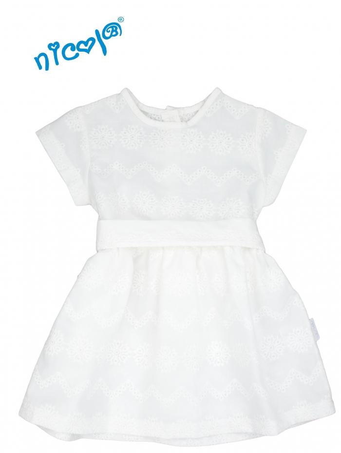 645757098591 Nicol Kojenecké šaty Lady - bílé