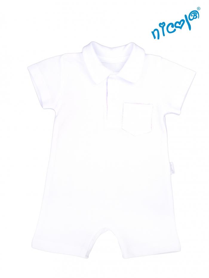 Kojenecké body s nohavičkami Nicol - krátký rukáv, Sailor - bílé, vel. 56