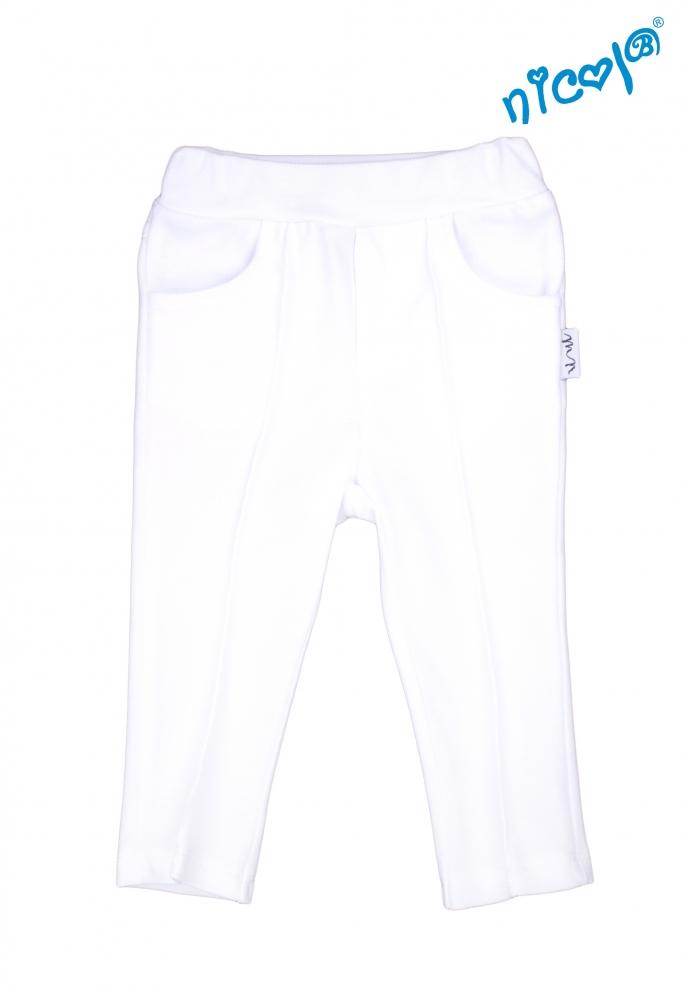 Kojenecké bavlněné kalhoty Nicol, Sailor - bílé