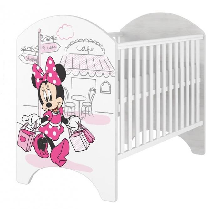 dce76ef38b02c BabyBoo Dětská postýlka Disney Minnie/Shopping, 120x60cm