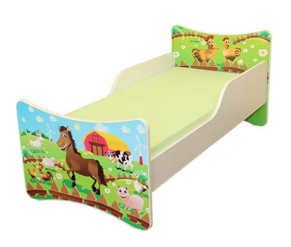 Dětská postel Farma - 180x80 cm
