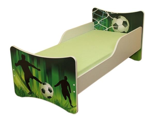 Dětská postel se zábranou Fotbal