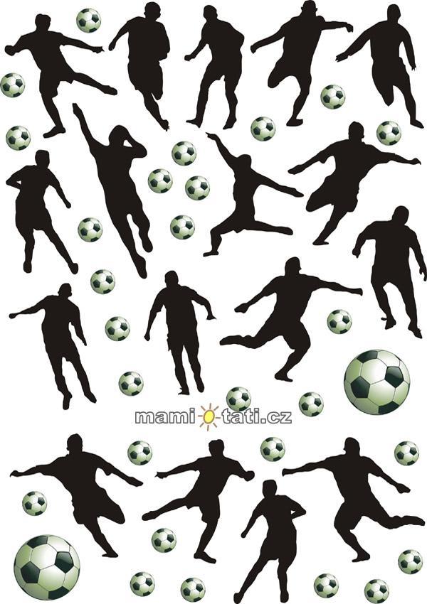 Nálepky, dekorace na stěnu 70x100 cm - Fotbal