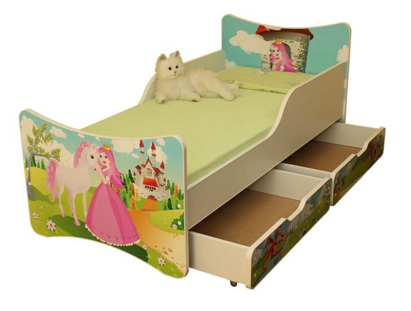 Dětská postel a šuplík/y Princezna