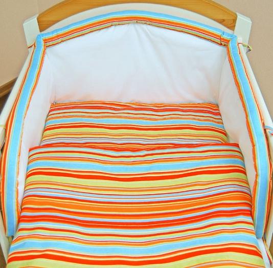 Bavlněné povlečení - Proužek pomeranč