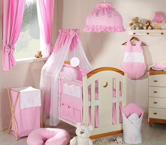 Luxusní mega set s výšivkou Š - Měsíček růžový