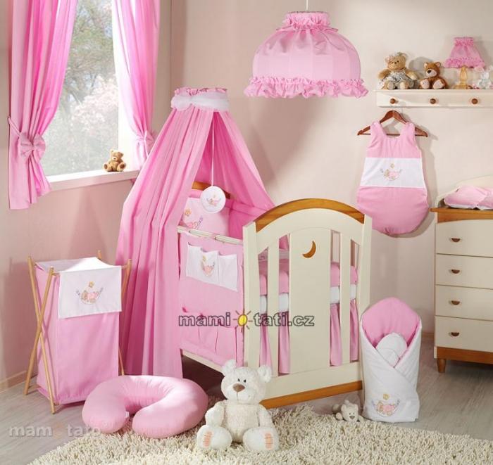 Luxusní mega set s výšivkou CL - Houpačka růžová