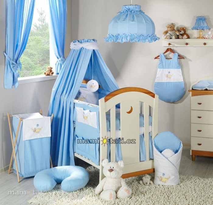 Luxusní mega set s výšivkou CL - Houpačka modrá