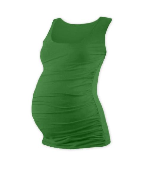 Těhotenský top JOHANKA - tm. zelená