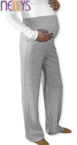 Těhotenské tepláky - šedý melír