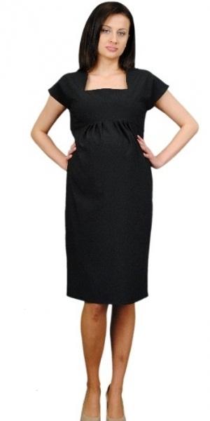 Těhotenské šaty ELA - černá