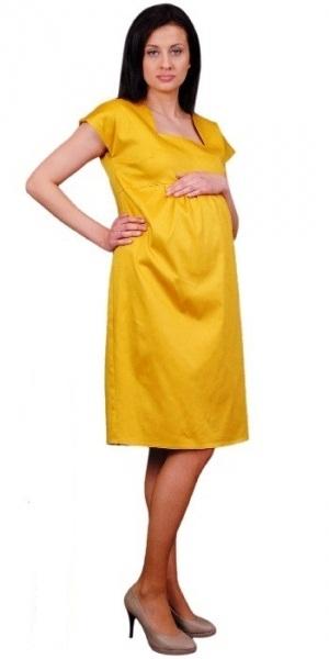 Těhotenské šaty ELA - hořčice
