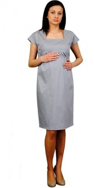 Těhotenské šaty ELA - ocelová