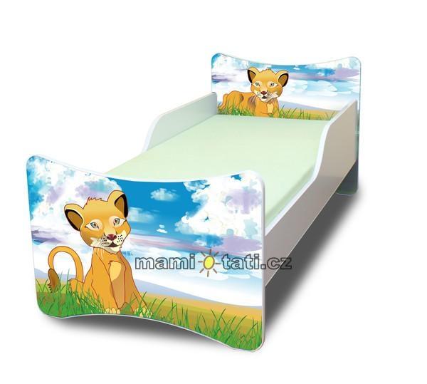 Dětská postel se zábranou Lvíček - 180x80 cm