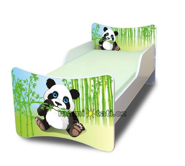 Dětská postel se zábranou Panda - 180x80 cm