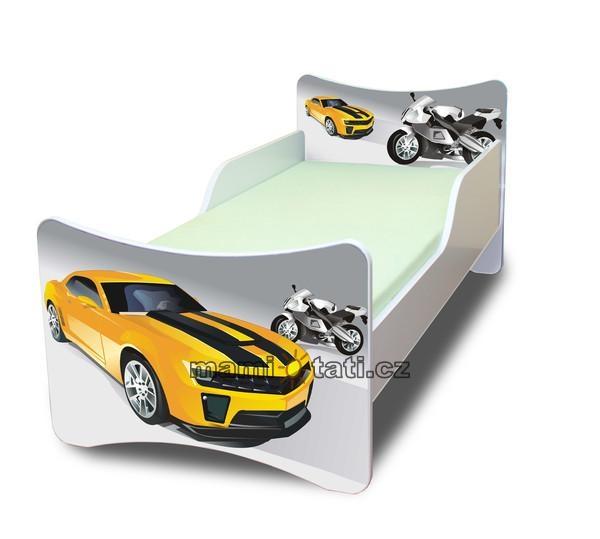 Dětská postel se zábranou Závodník - 160x70 cm