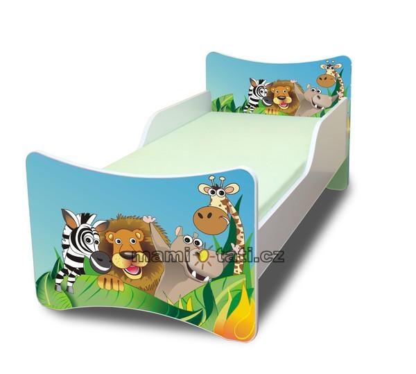 Dětská postel se zábranou Zoo