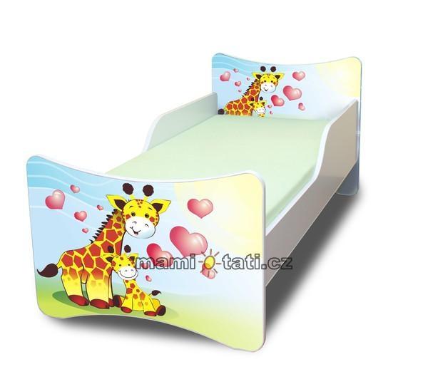 Dětská postel se zábranou Žirafky